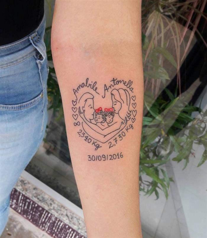 tatuagem gemeos feminina
