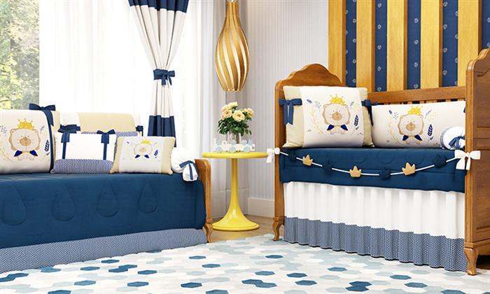 azul marinheiro e amarelo