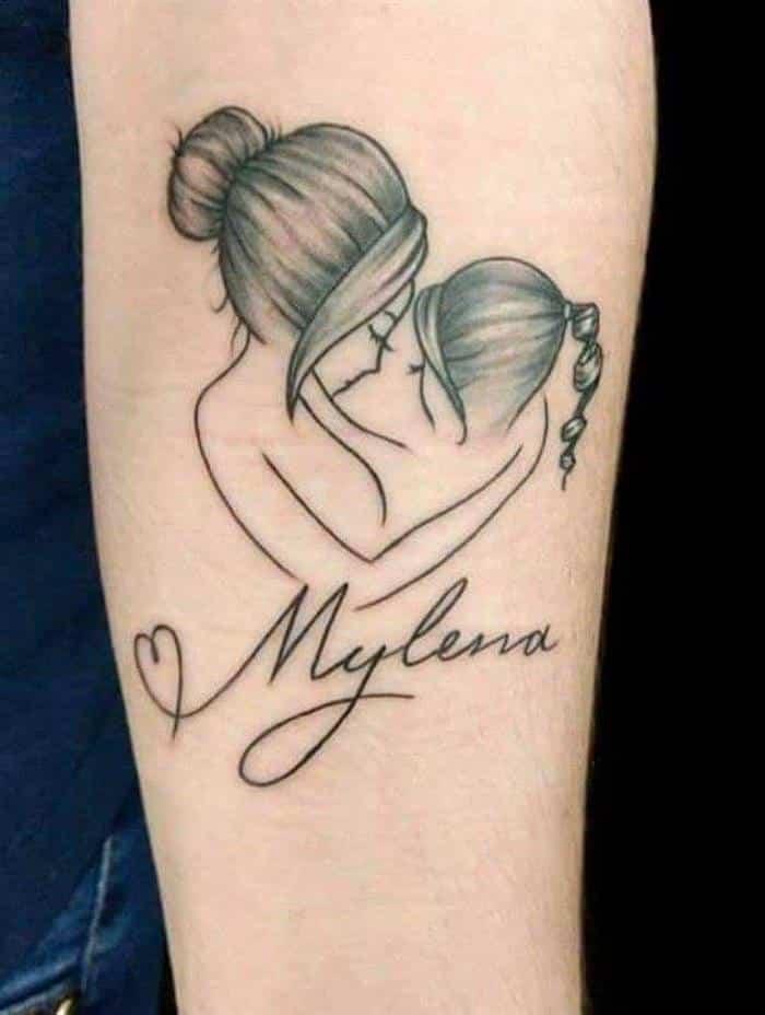 tatuagem silhueta