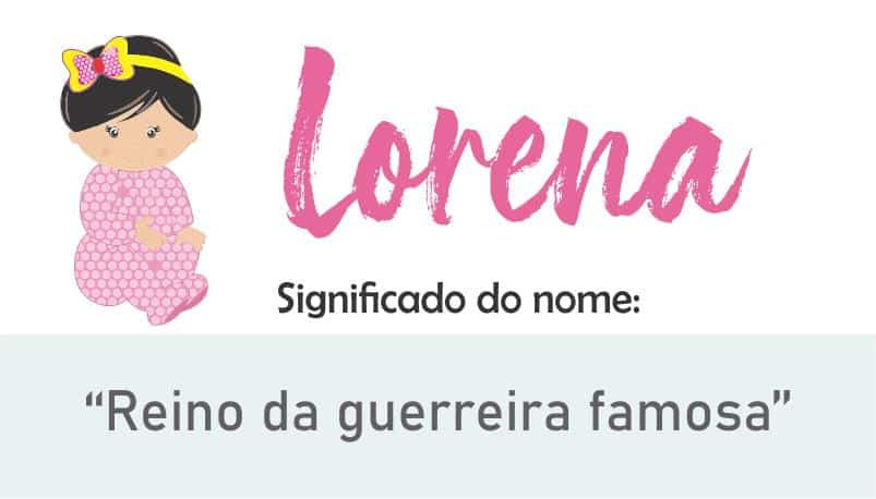 significado do nome lorena