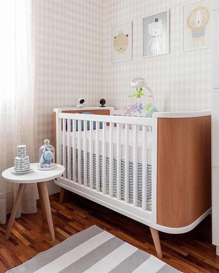 quarto de bebê simples unissex