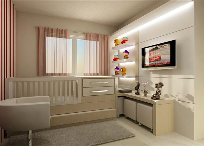 quarto de bebe simples feminino