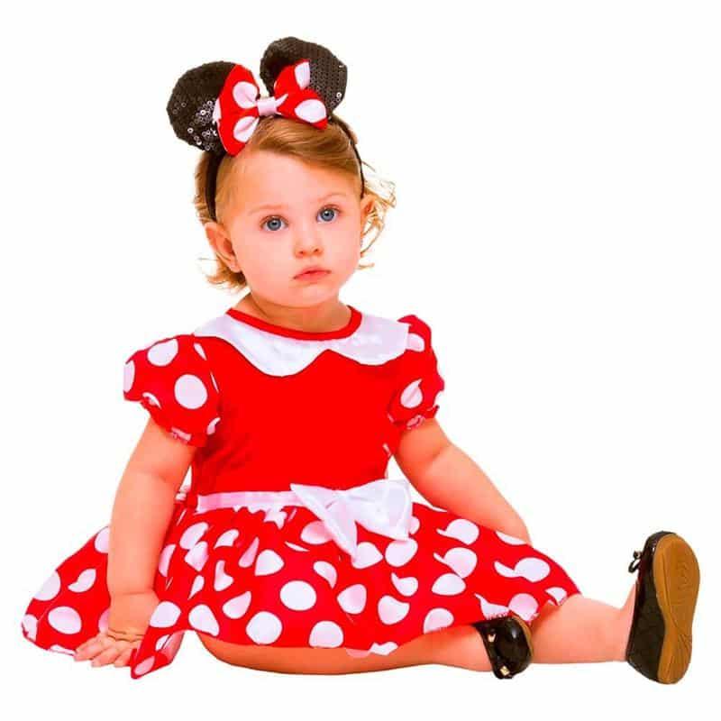 Fantasia da Minnie para Bebê