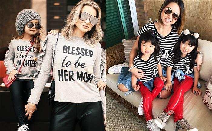 camisas tal mãe tal filha