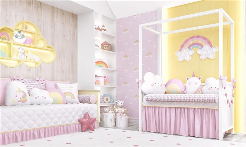 quarto de bebê menina simples