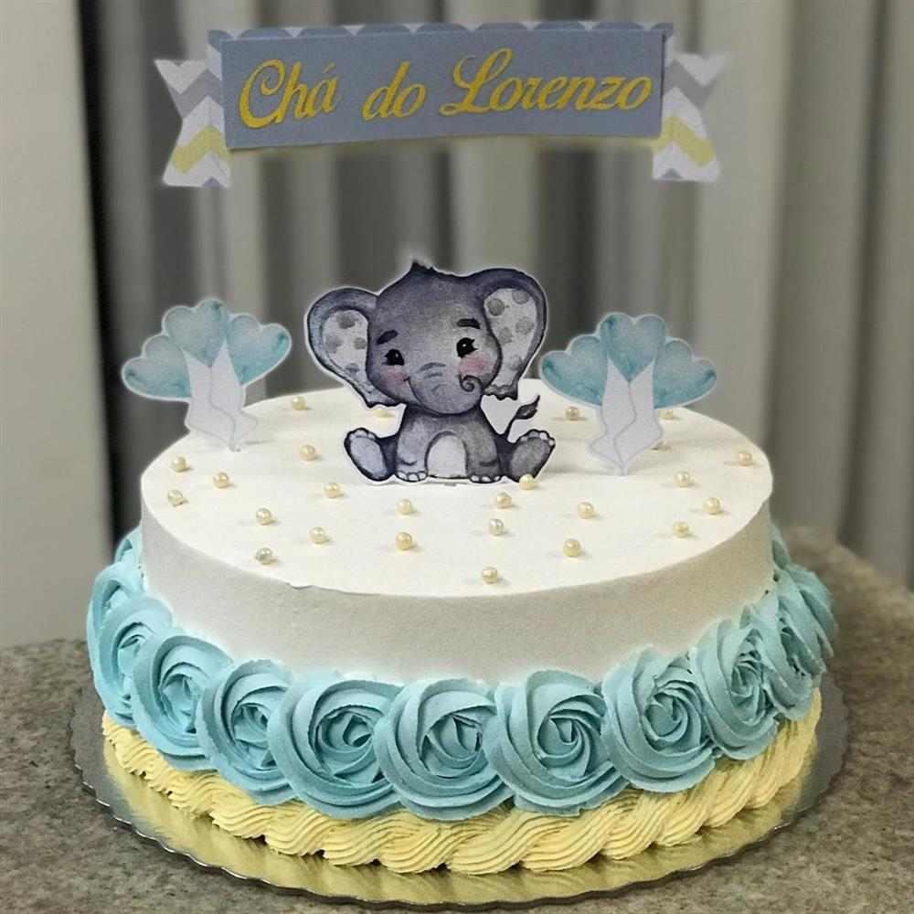 fotos de bolo de cha de bebe com chantilly
