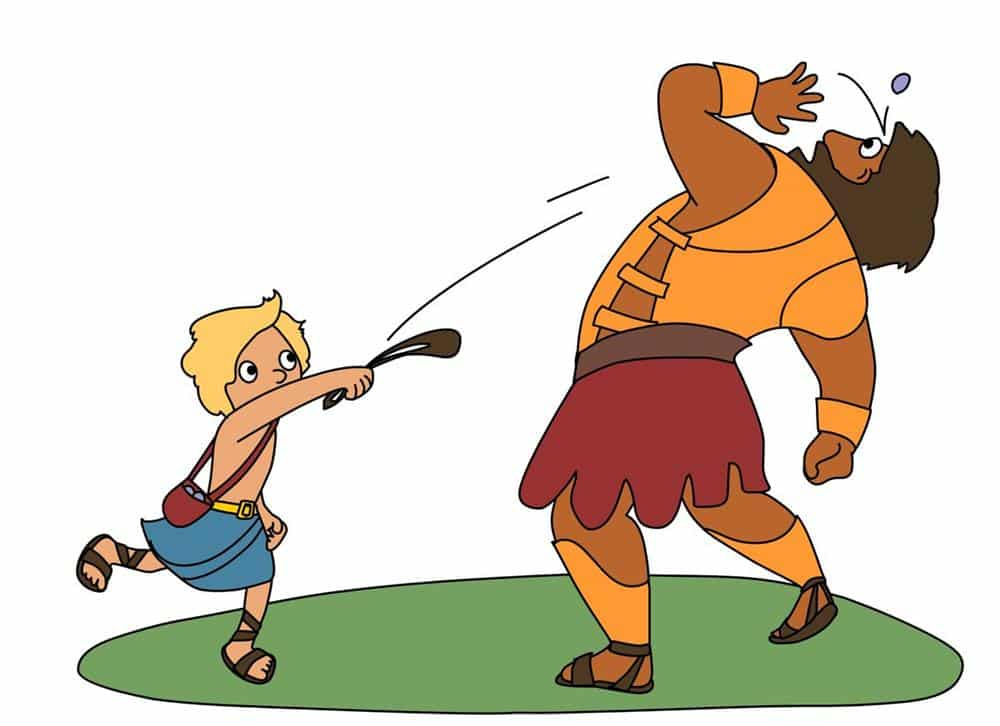 História infantil Davi e Golias