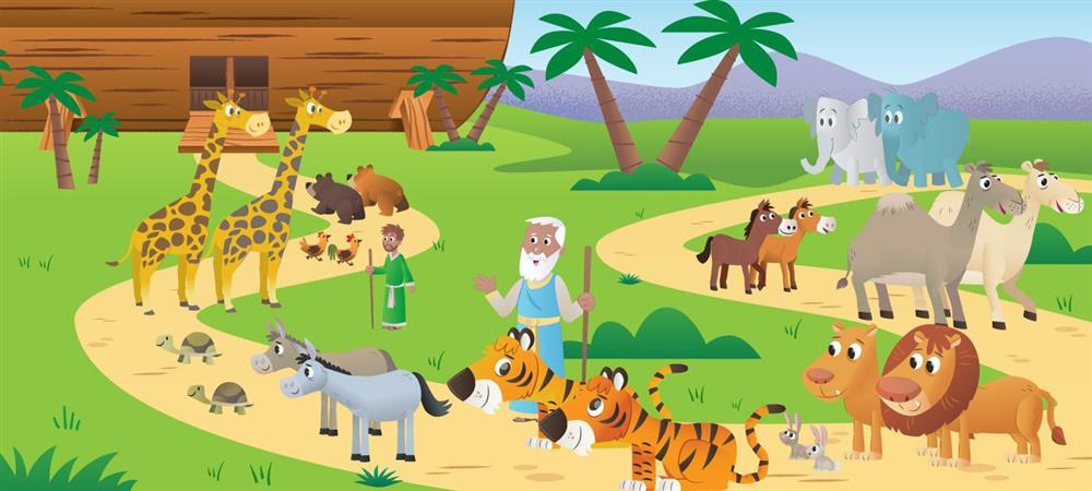 História bíblica infantil arca de noé