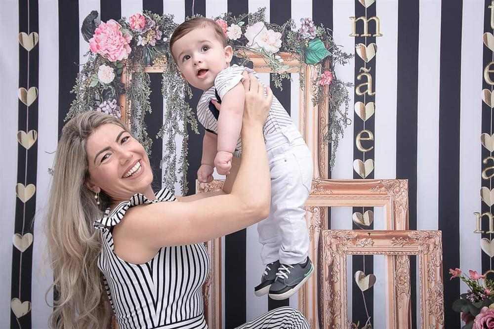 ensaio fotográfico de dia das mães caseiro