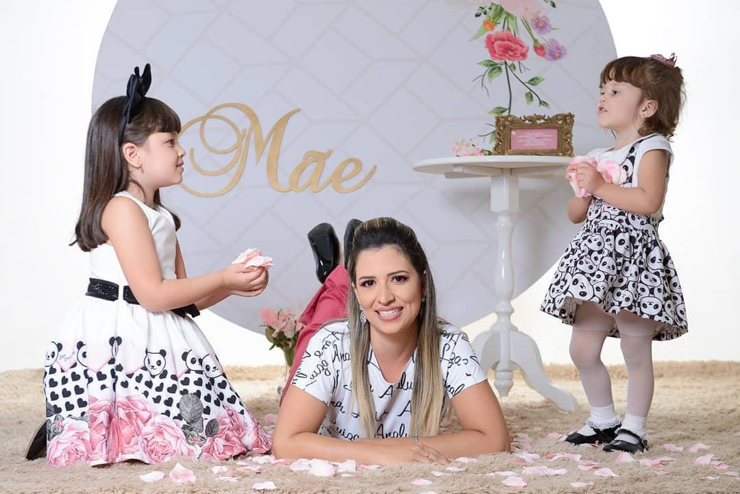 foto com as filhas