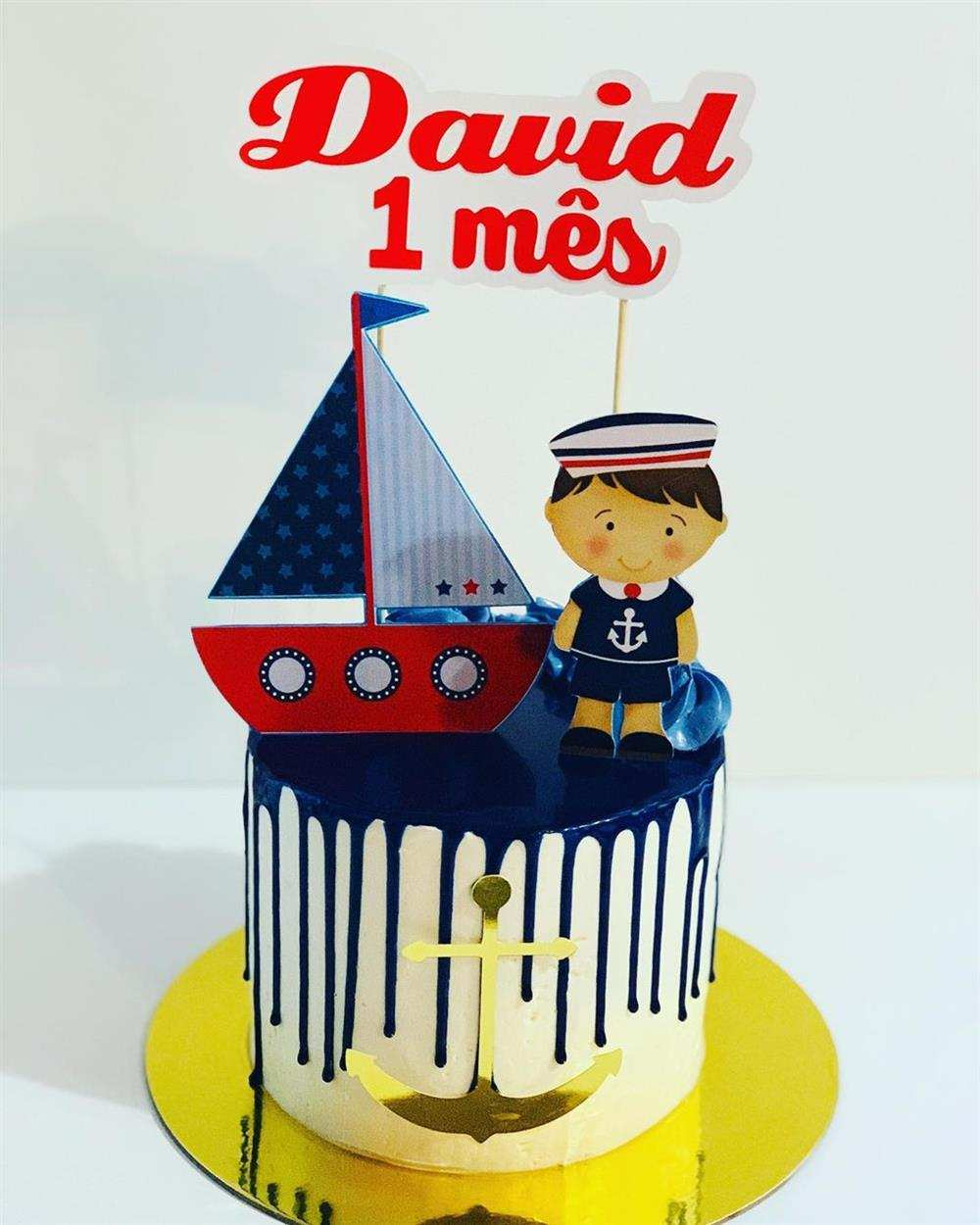 bolo mesversario marinheiro