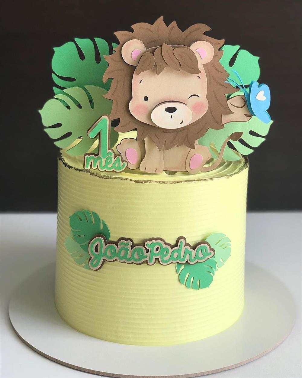 mini bolo leaozinho