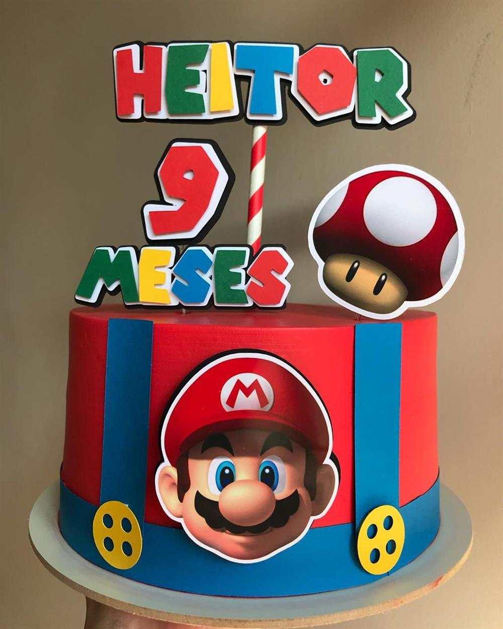 bolo decorado super mario