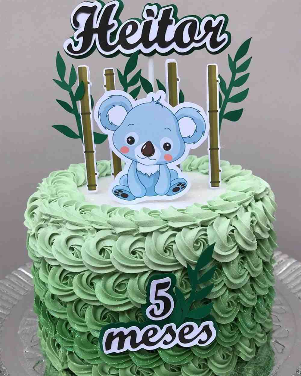 bolo mesversario masculino tema coala