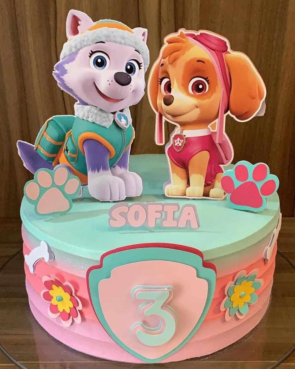 bolo patrulha canina feminino