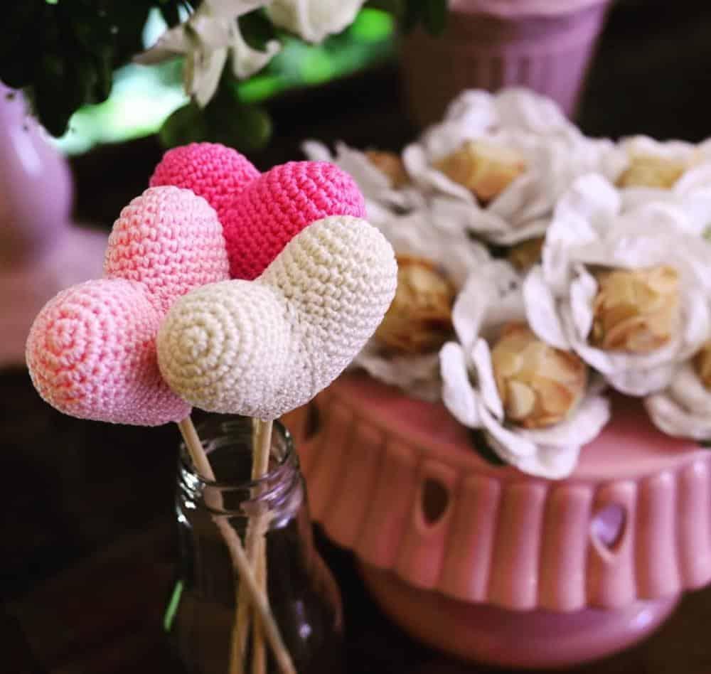 decoração de chá de fralda chuva de amor