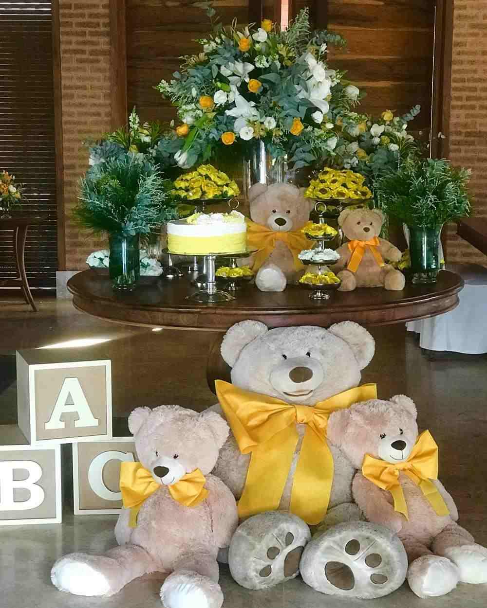 decoração luxo tema ursinho