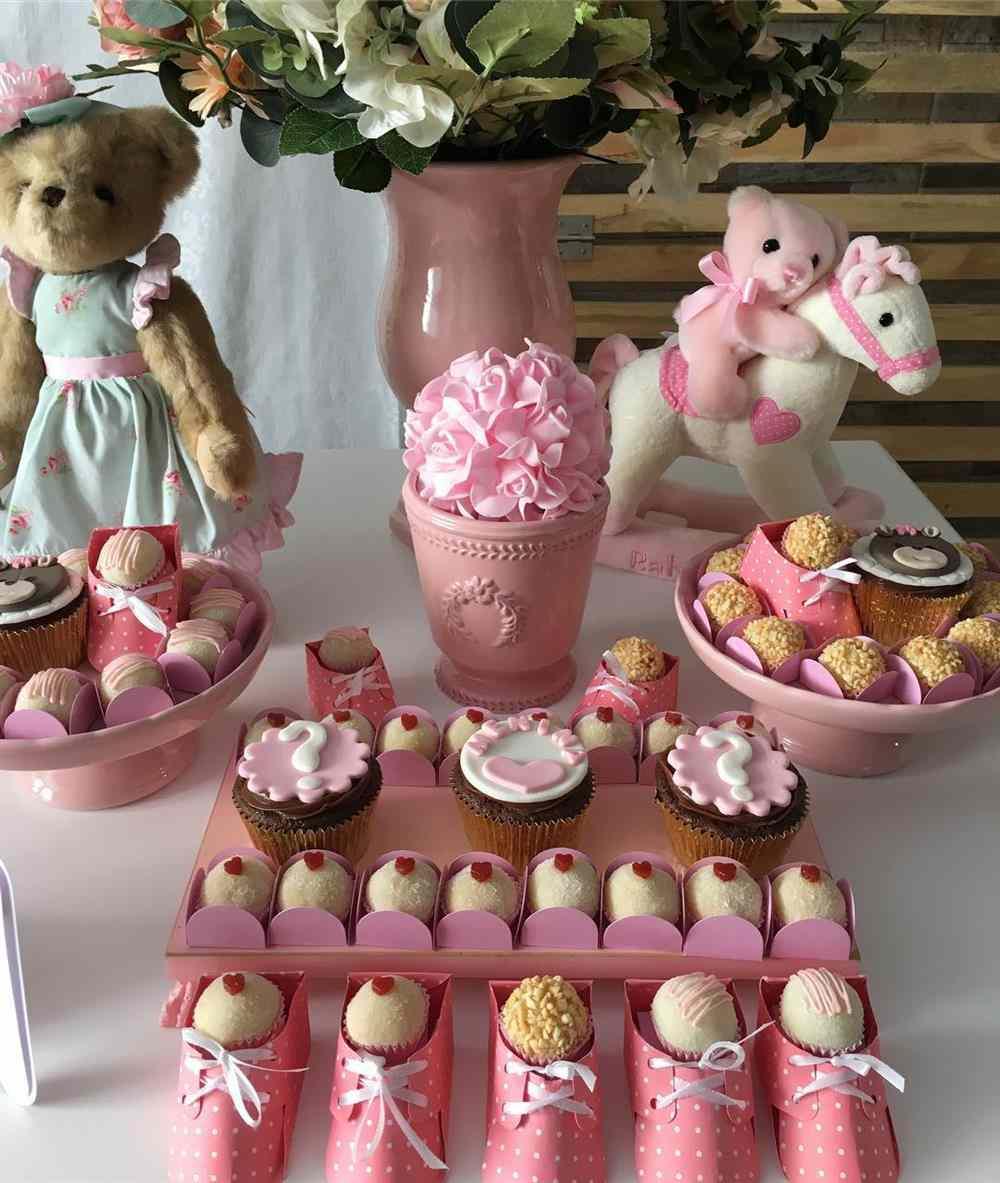 decoração ursinha rosa