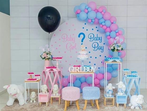 base para decoração com balões
