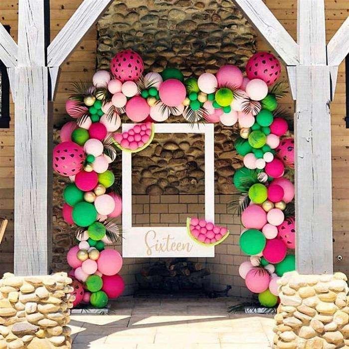 decoração com balões coloridos