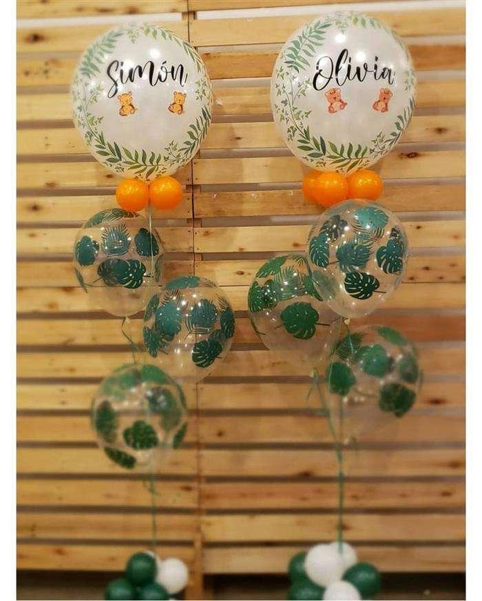 decoração com balões laranja