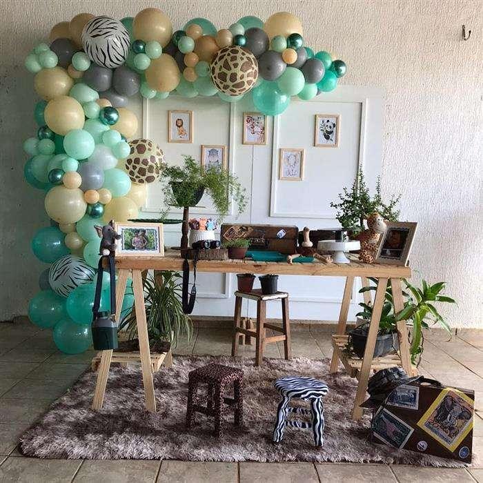 decoração com balões masculino