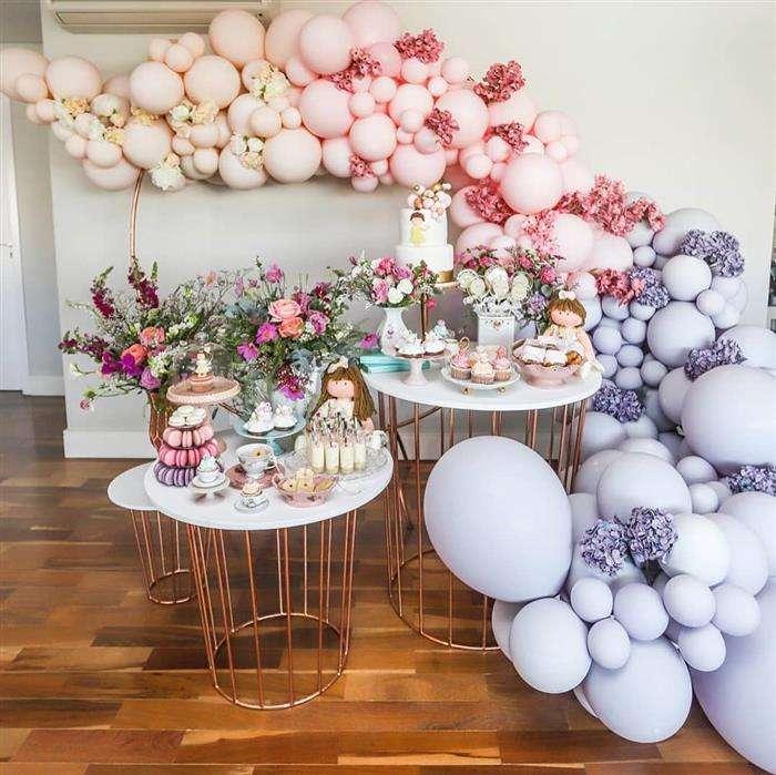 decoração com balões pequenos