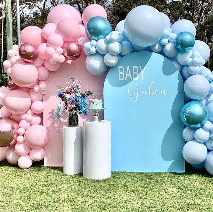 decoração com balões revelação