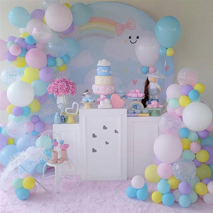 decoração com balões romantica