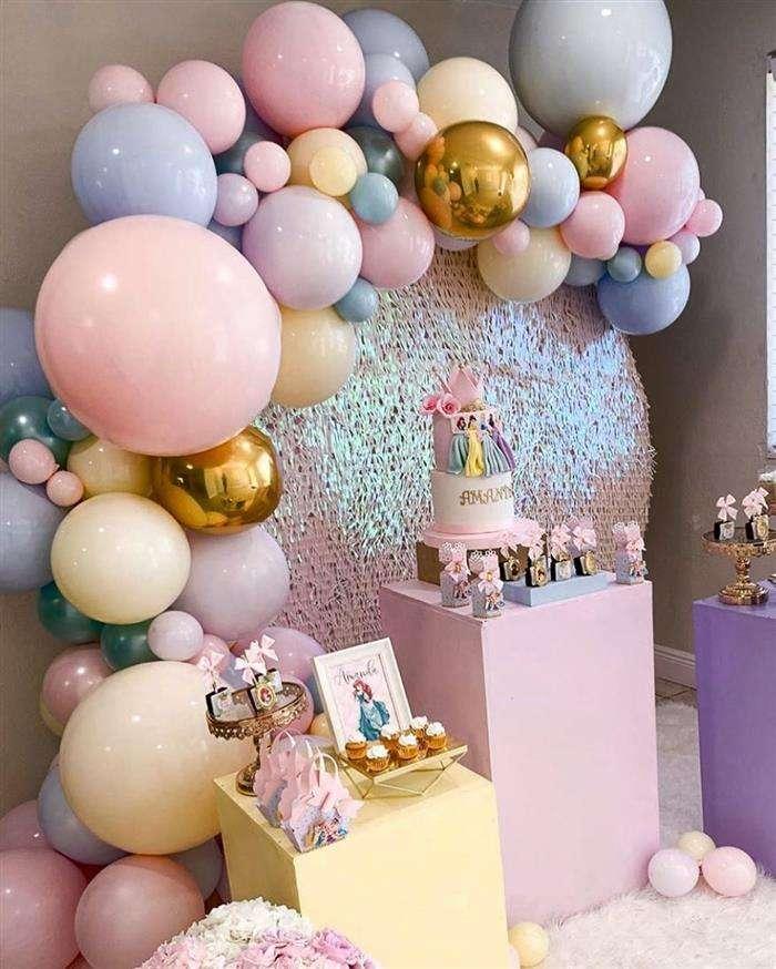 decoração com balões rosa