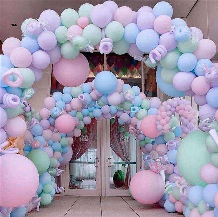 grade para decoração com balões