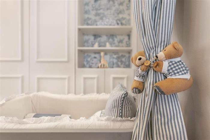 cortina para quarto de bebe masculino