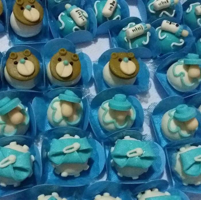 doces para chá de bebê azul