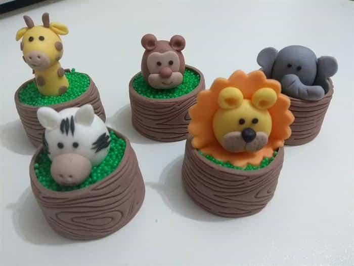 doces para cha de bebe safari