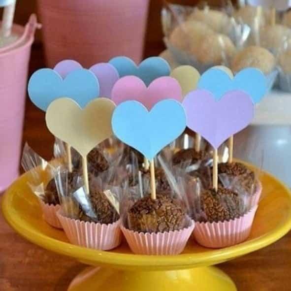 doces para chá de bebê simples e barato