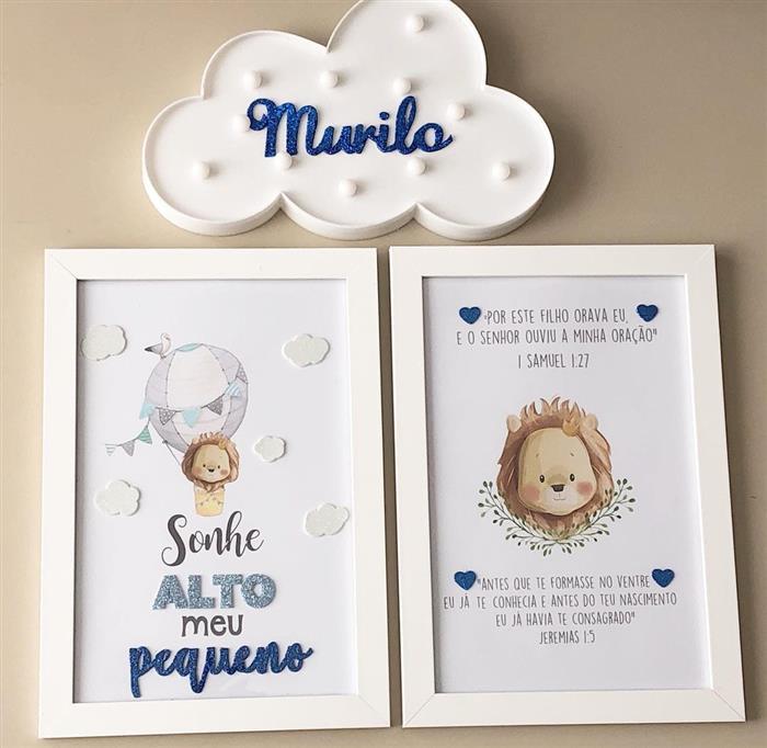 quadros para quarto de bebe masculino