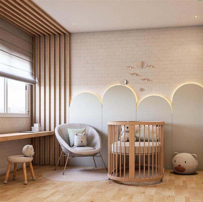 quarto de bebe clean