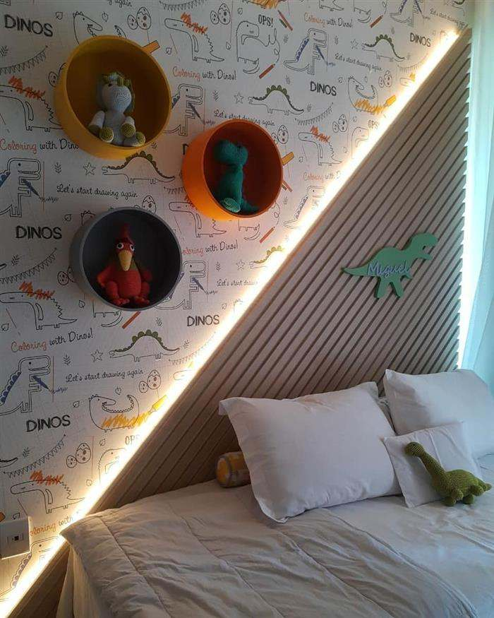 quarto de bebe dinossauro
