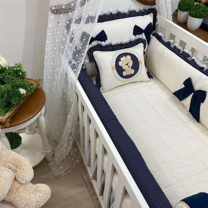quarto de bebe masculino branco e azul