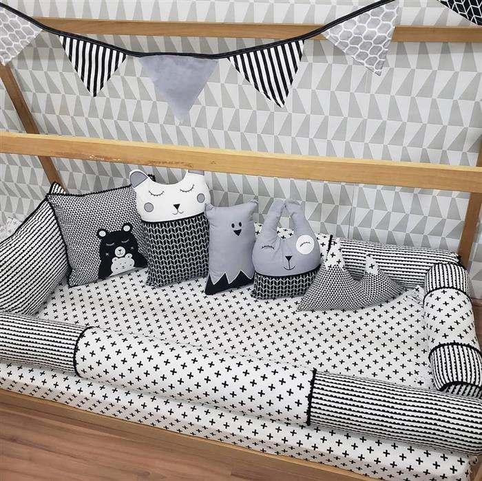 quarto de bebe masculino cinza