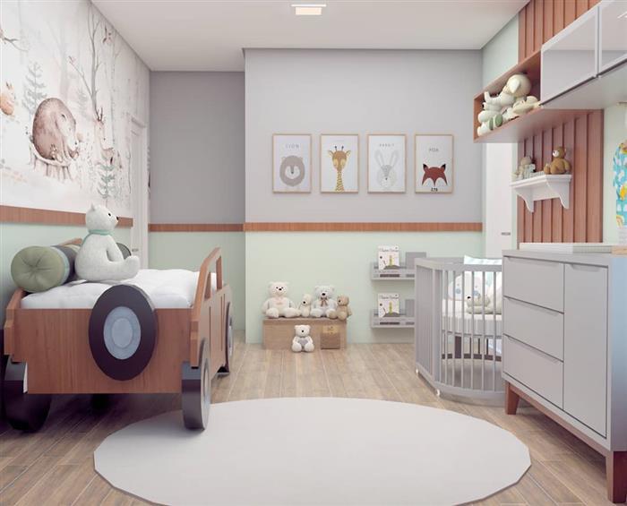 quarto de bebe masculino safari