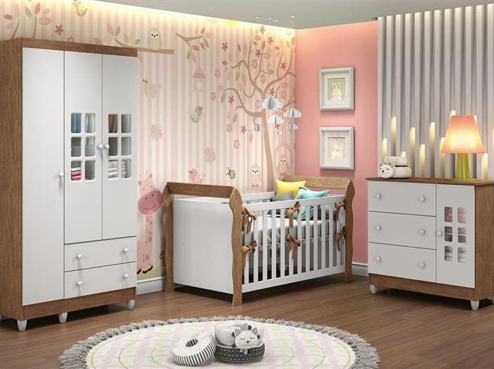 arrumação de quarto de bebe feminino