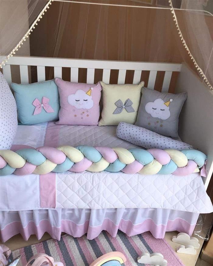 decoração quarto de bebe feminino chuva de amor
