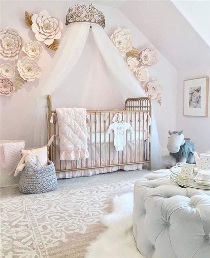 decoração quarto de bebe feminino princesa