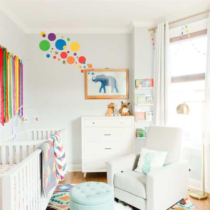 quarto bicolor de bebe