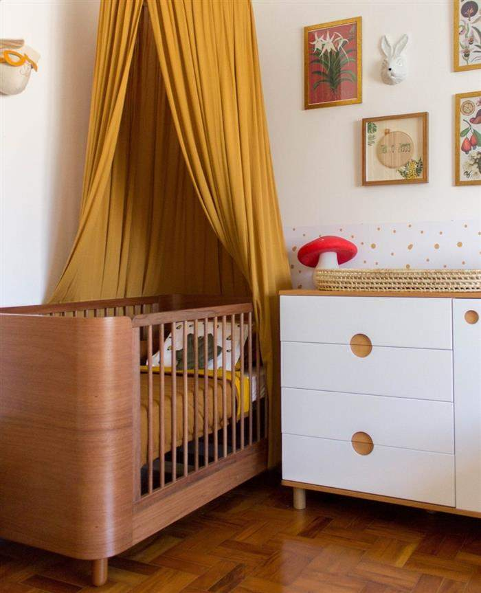 quarto de bebe feminino amarelo