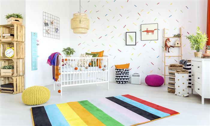 quarto de bebe feminino colorido
