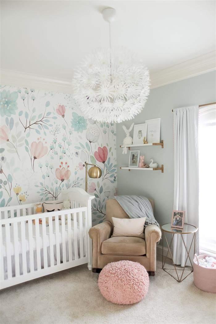 quarto de bebê feminino de luxo