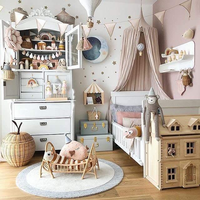 quarto de bebe feminino decoração