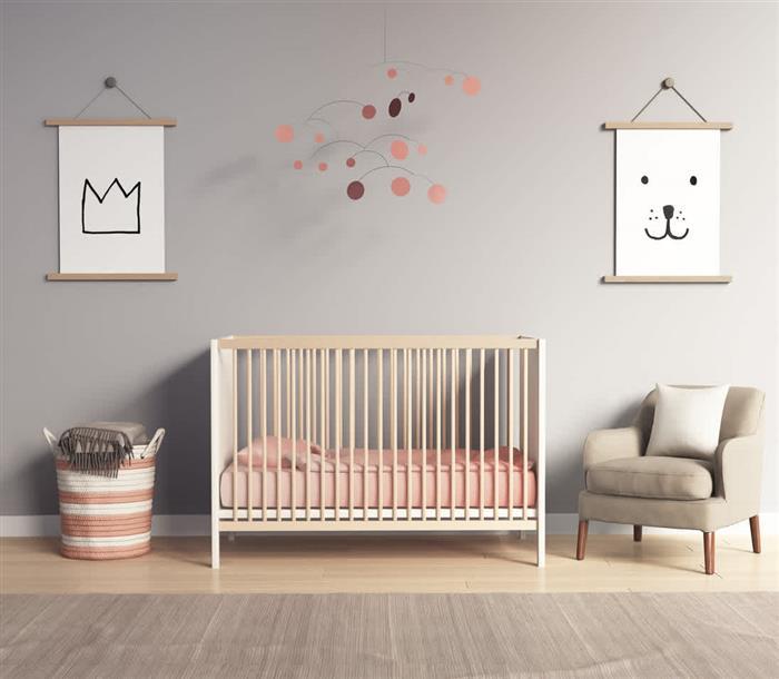 quarto de bebe feminino simples e bonito